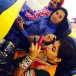 Dhoad Gypsies of Rajasthan - india - Portugal Star Rajasthani dancer Chanda sapera and our Muscians preparing & make up in flight